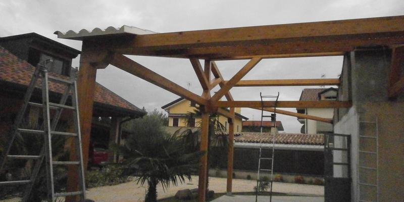 Tetti in legno padova piove di sacco costruire tetto for Casa legno antisismica costo